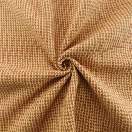Orange/Ivory Houndstooth Twill Plaid Home Decorating Fabric, Fabric ...