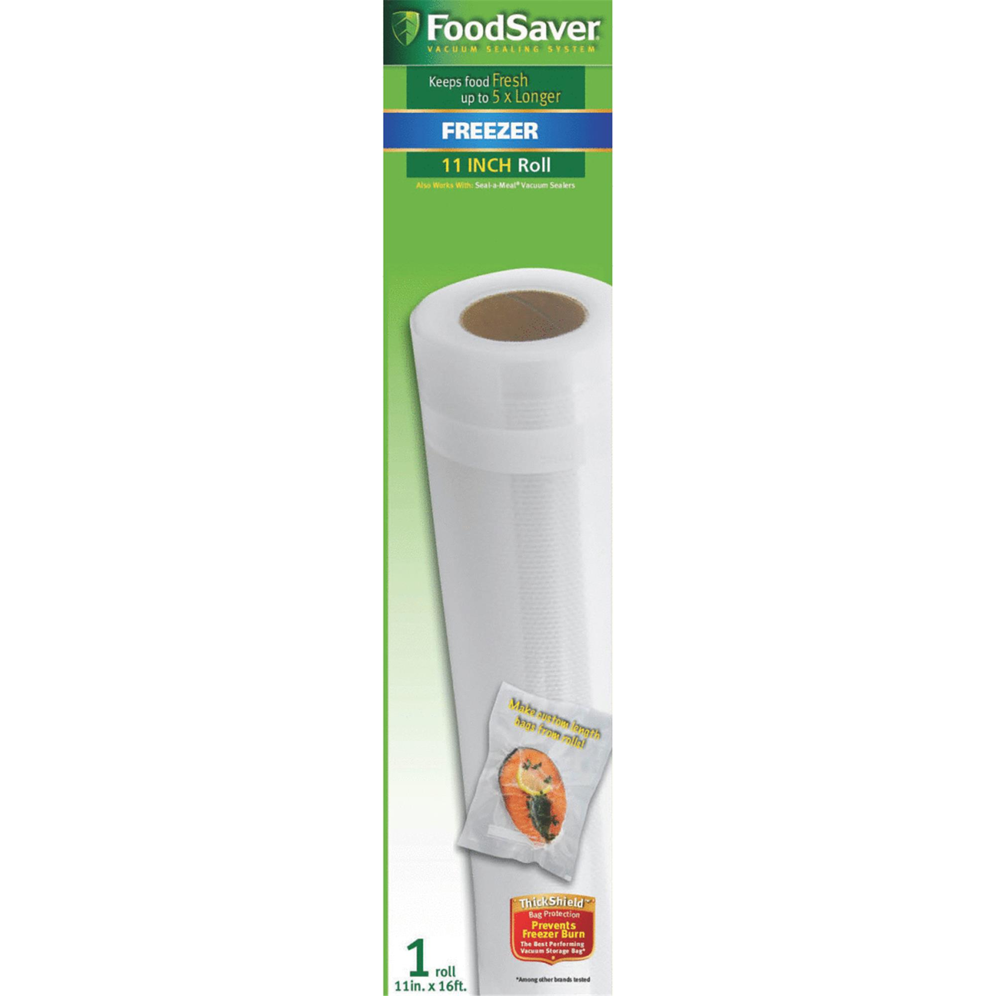 Click here to buy FoodSaver 11 in x 16 ft Single Roll by JARDEN CONSUMER SOLUTIONS.