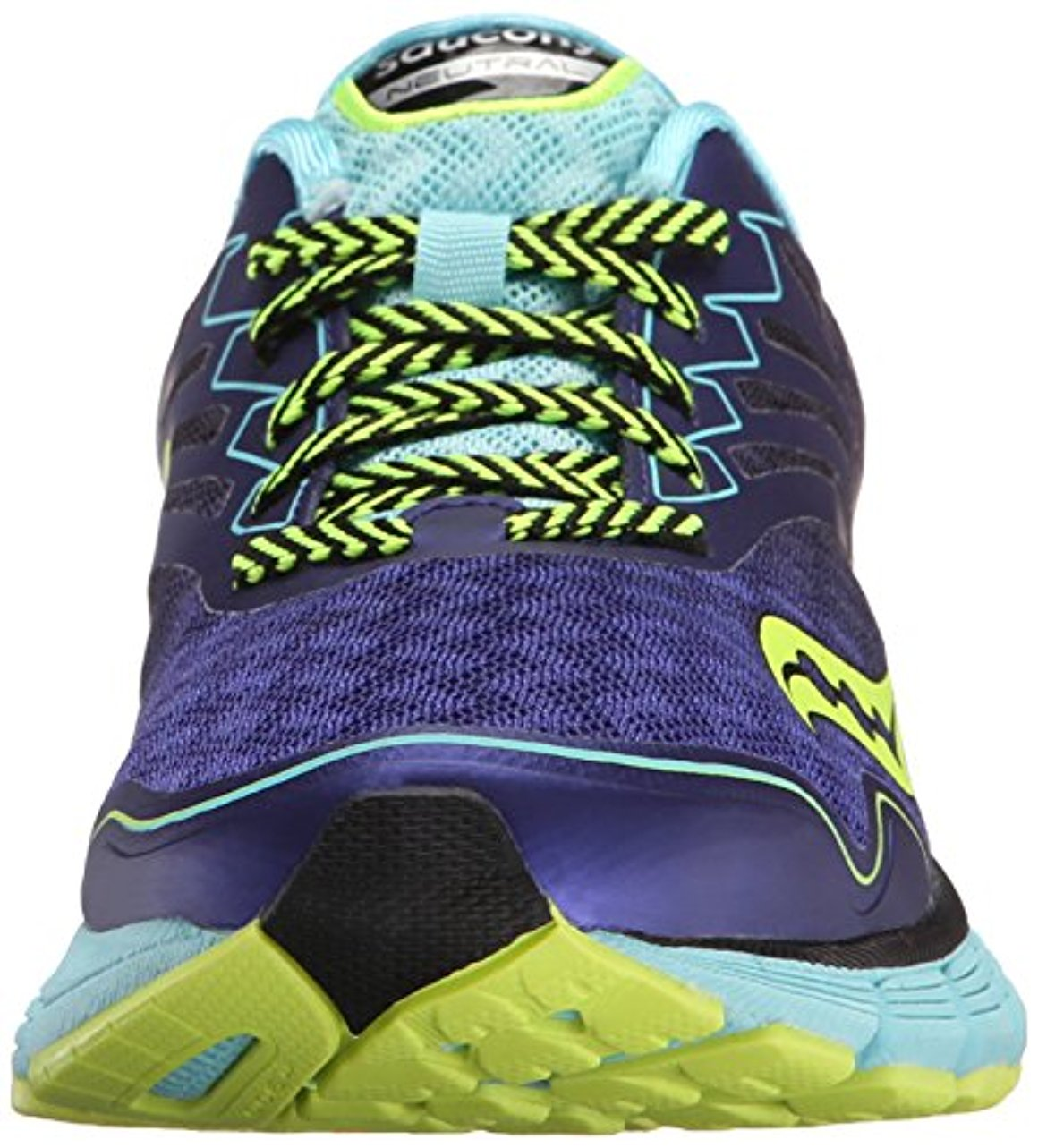 Saucony Women's Breakthru 2 Running Shoe, Twilight/Oxygen/Citron, 7.5 M US