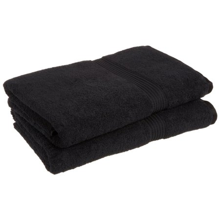 """Luxurious Soft Hotel & Spa Quality Oversized Bath Sheet Set of 2, Made of 100% Premium Long-Staple Combed Cotton - Black, 34"""" x 68"""" each By Superior Ship from US"""