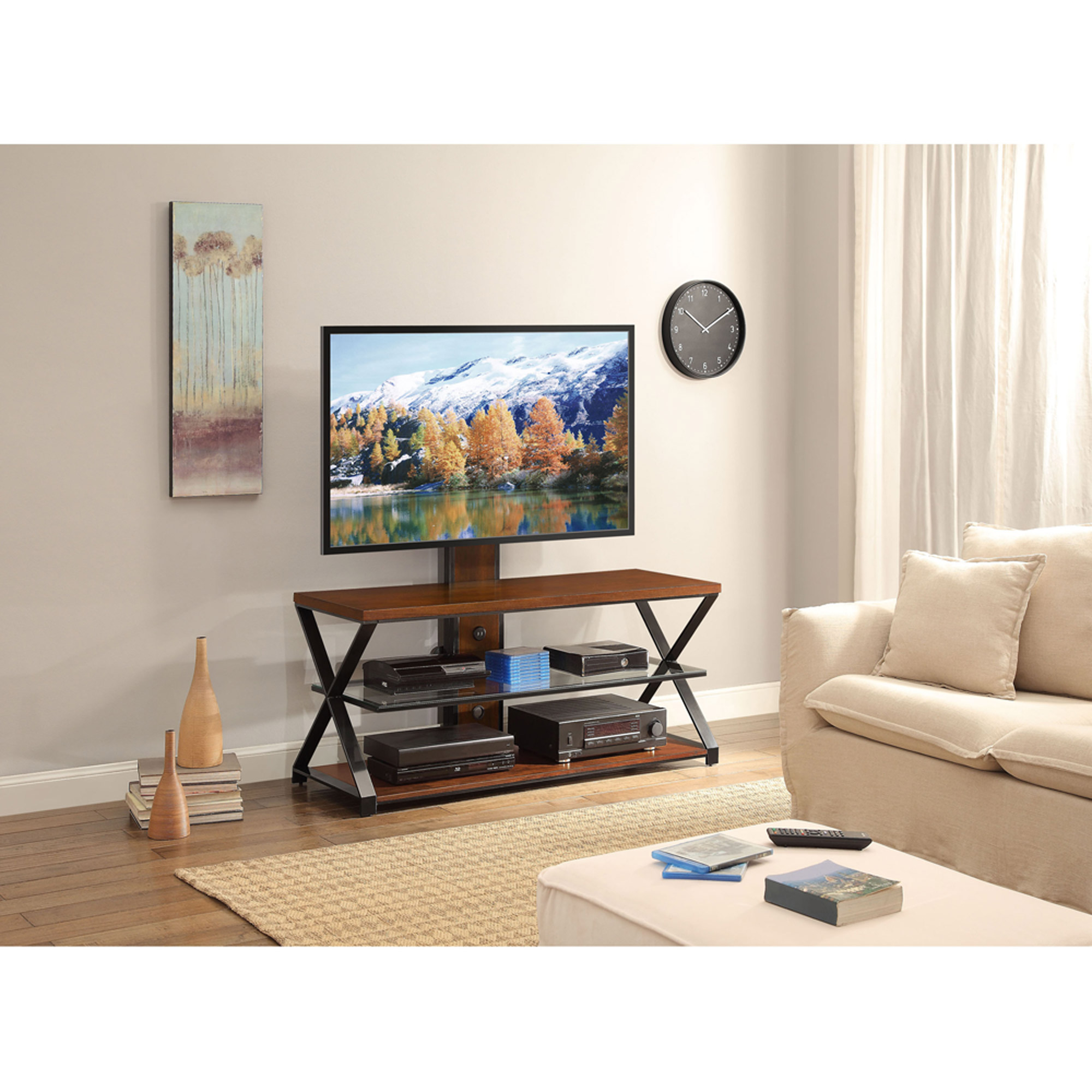 Jaxon 3-in-1 Cognac TV Stand for TVs up to 70""