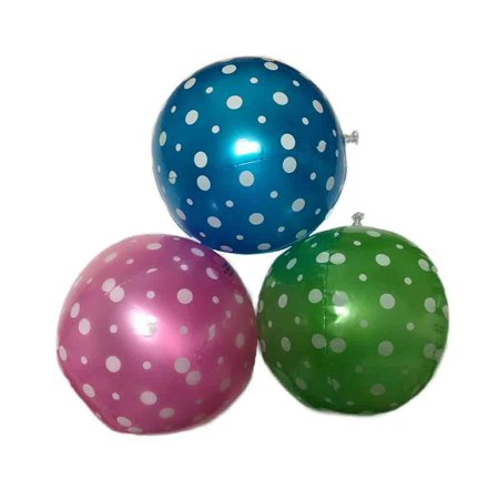 9 Inch Inflatable Polka-Dot Beach Balls - 15 Pack for $<!---->