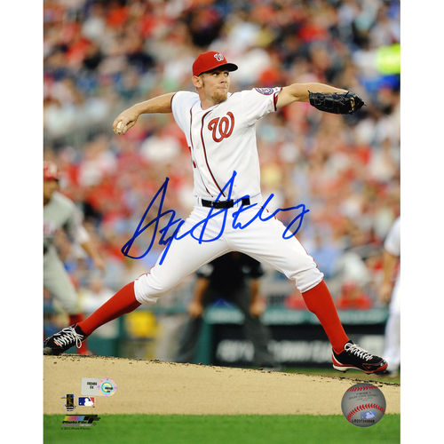 MLB - Stephen Strasburg Autographed 8x10 Photograph   Details: Washington Nationals
