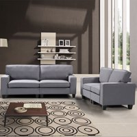 Product Image Harper Bright Designs 2 Piece Living Room Upholstered Sofa And Loveseat Set Multiple Colors