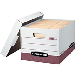 Bankers Box Side Tab Storage - Bankers Box® R-Kive® Storage Boxes, Letter/Legal, 15