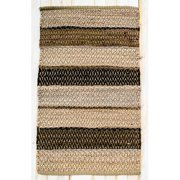 CLM Hudson Herringbone Mocha Striped Area Rug
