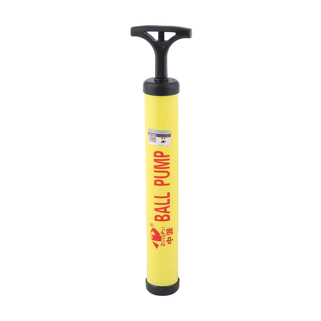 Unique Bargains Yellow Black Plastic Housing Volleyball Basketball Hand Air Pump Inflator by