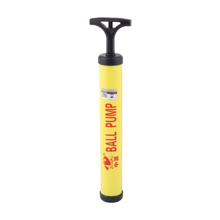 - Unique Bargains Yellow Black Plastic Housing Volleyball Basketball Hand Air Pump Inflator