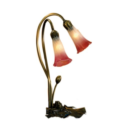 Meyda Tiffany 13209 Stained Glass   Tiffany Desk Lamp from the Lilies Collection by Meyda Tiffany