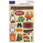 Cardstock Stickers-I'd Rather Be Camping