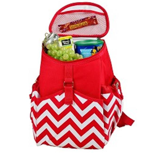 Picnicat Ascot 537-CR Cooler Backpack - Chevron Red