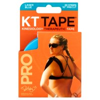KT Tape Pro Laser Blue Kinesiology Therapeutic Tape, 20 count
