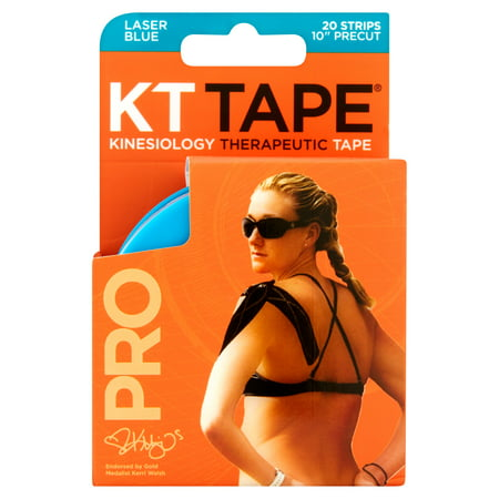 Kt Tape Pro Kinesiology Therapeutic Precut Tape Strips  Laser Blue  20 Ct