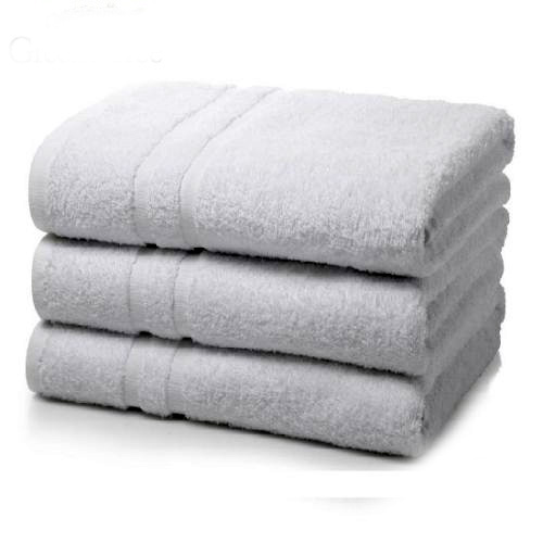 "GHP 6-Pcs Solid White 20""x40"" 100% Organic Soft Cotton Blend Hotel/Home Hand Towels"