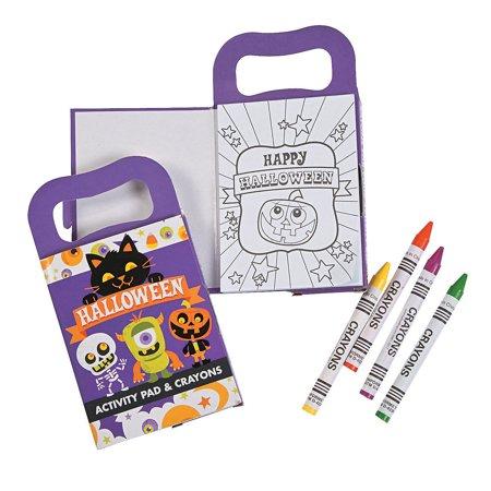 Fun Express - Mini Halloween Activity Book W/crayon for Halloween - Stationery - Activity Books - Activity Books - Halloween - 12 Pieces](Halloween Arts And Crafts Activities)