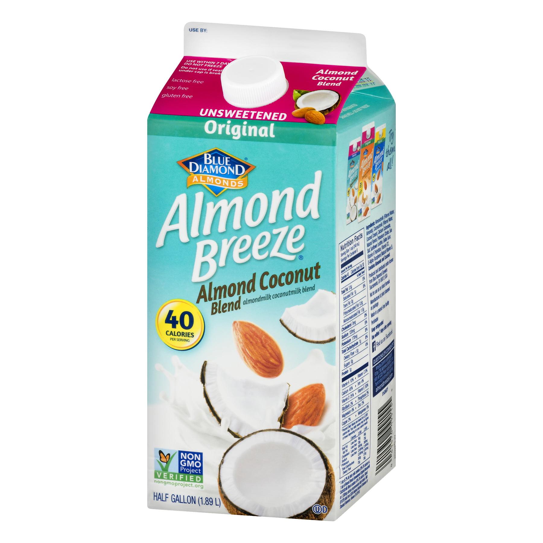 Blue Diamond Almond Breeze Unsweetened Almond milk Coconut Milk ...