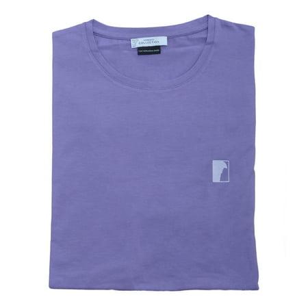 Versace Collection Men Medusa Logo Crew Neck T-Shirt Purple ()
