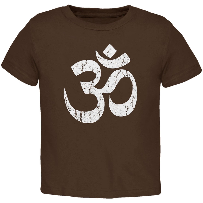 Yoga Om Brown Toddler T-Shirt