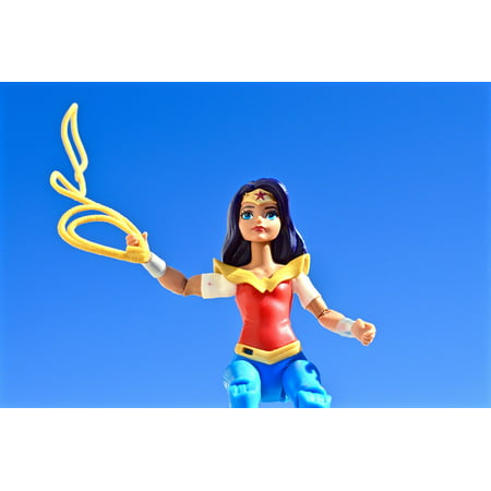 LAMINATED POSTER Female Lasso Wonder Woman Strong Superhero Poster Print 24 x 36 - Superheroes That Are Female