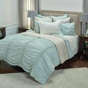 "Rizzy Home Chelsea Cane Salt Blue Quilt 106"" x 92"""