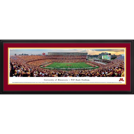 Minnesota Gopher Football   Inaugural Game At Tcf Bank Stadium   Blakeway Panoramas Ncaa College Print With Deluxe Frame And Double Mat