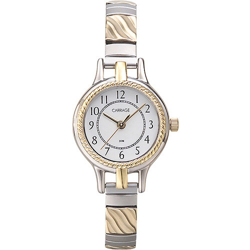 Carriage by Timex Women's Demi Watch, Two-Tone Stainless Steel Expansion Band
