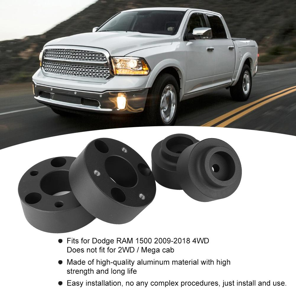 Front 2.5 + Rear 1.5 Leveling Lift Kit,4pcs Aluminum Lift Leveling Kit Fits for Dodge RAM 1500 4WD 2009-2018