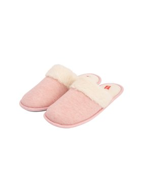 Hanes Womens Superior Comfort Cotton Slip On Scuff Slipper with Memory Foam and Anti-Skid Sole