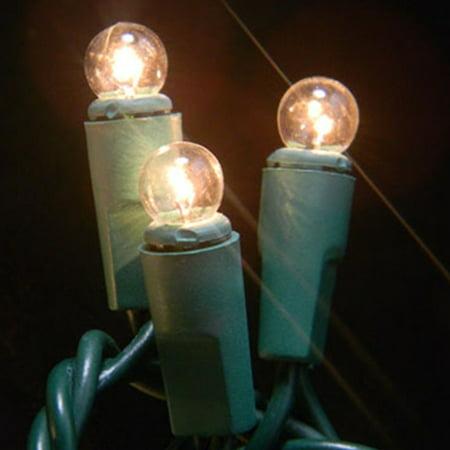 Wedding Lights Mini Globe String Lights 17.5 Foot Green Wire Warm White - Walmart.com