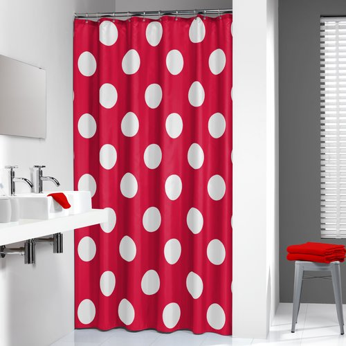 Sealskin Polka Single Shower Curtain Walmart Com Walmart Com
