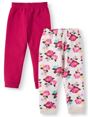Garanimals Solid Sweatpants & Printed Sweatpants, 2pc Multipack (Toddler Girls)