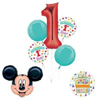 """Mickey Mouse """"I Survived My Parents First Year"""" 1st Birthday Party Supplies"""