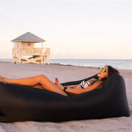 Camping Outdoor Beach Lazy Inflatable Bed Folding Inflatable Sofa Air Sofa - image 7 de 7