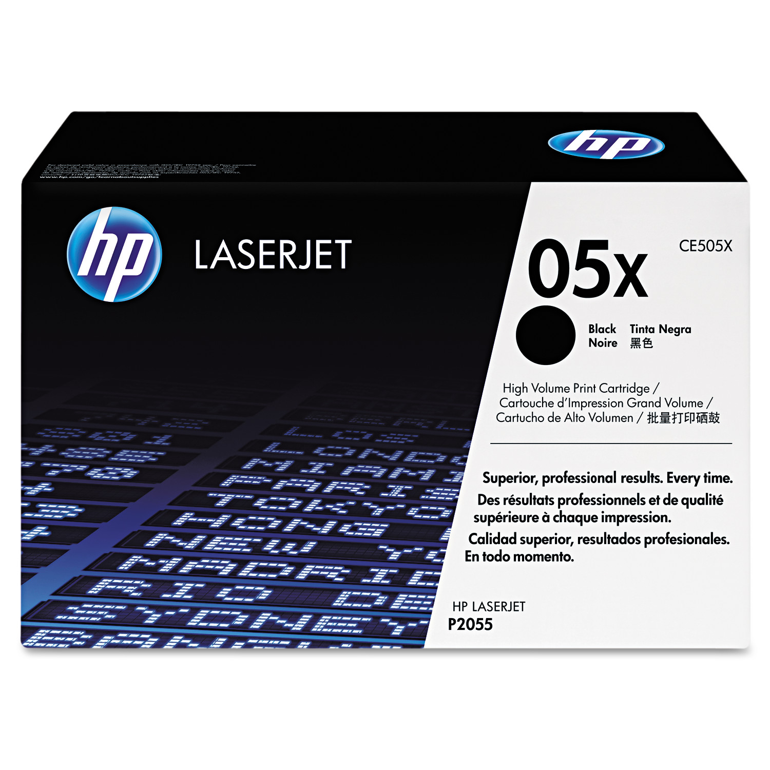 HP 05X, (CE505X) High Yield Black Original LaserJet Toner Cartridge -HEWCE505X