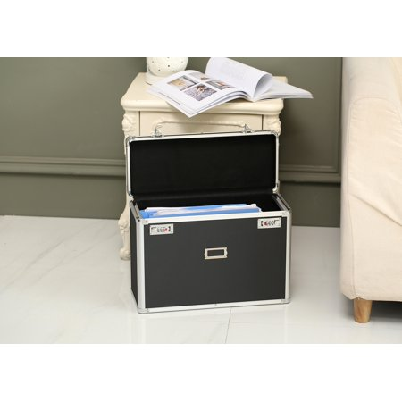 Ktaxon File Storage Organizer Locking Personal File Box Black Top for Legal Size Documents ()
