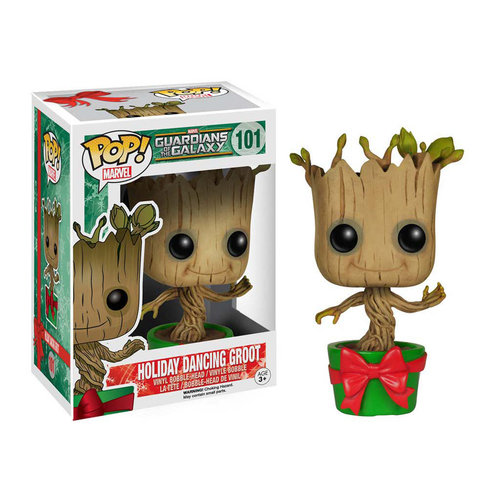 Funko 6196 POP Marvel GOTG Holiday Dancing Groot