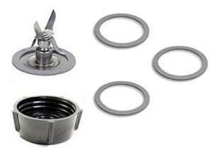 Oster 4961 Ice Crusher Blade, Gasket O-Rings, Jar Base Screw Cap Kit by