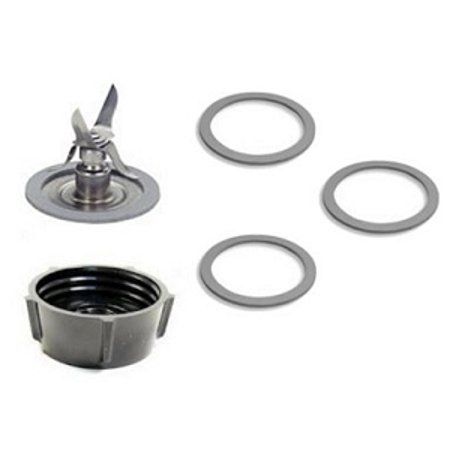Oster 4961 Ice Crusher Blade, Gasket O-Rings, Jar Base Screw Cap (Best Gasket For Oster Blenders)
