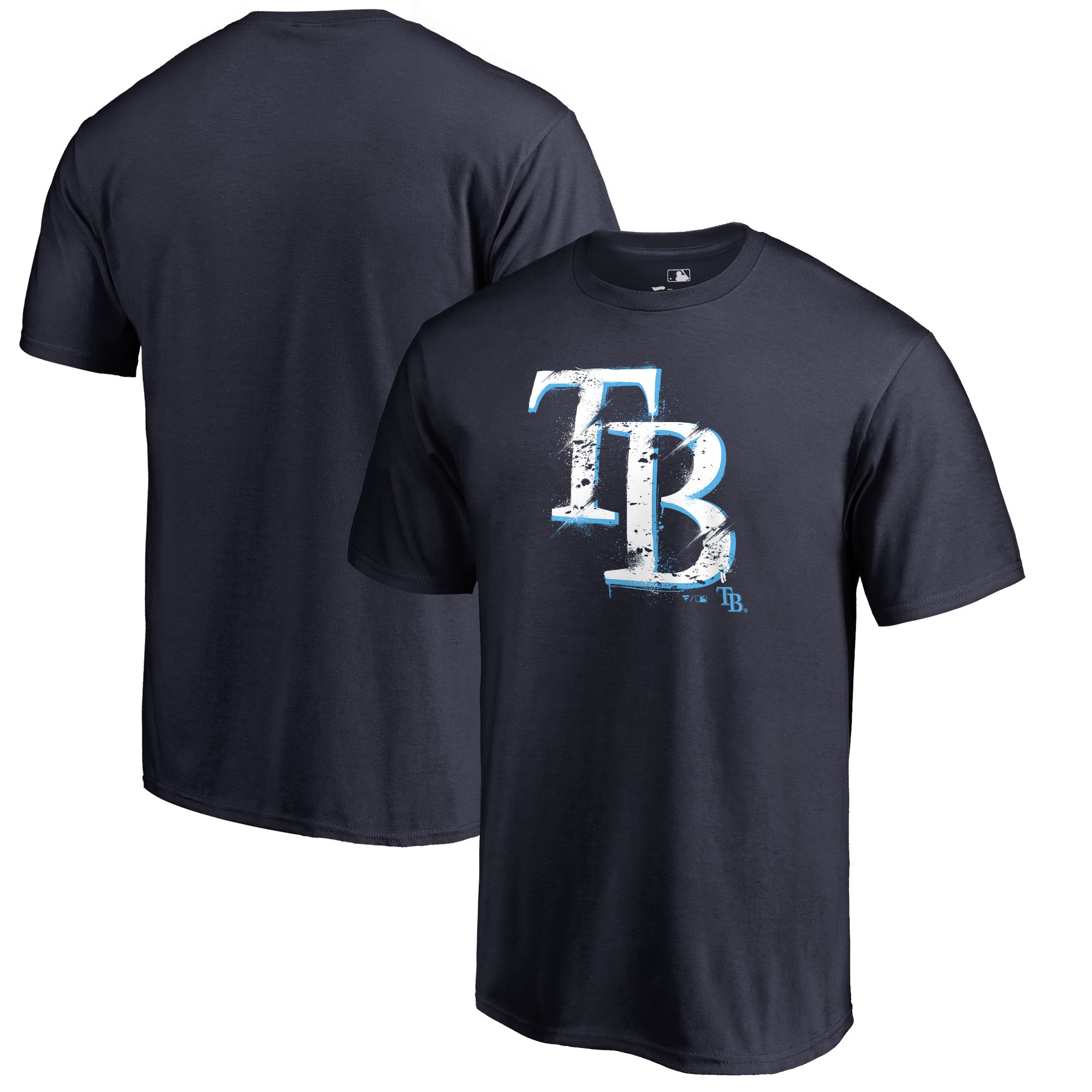 Tampa Bay Rays Fanatics Branded Splatter Logo T-Shirt - Navy