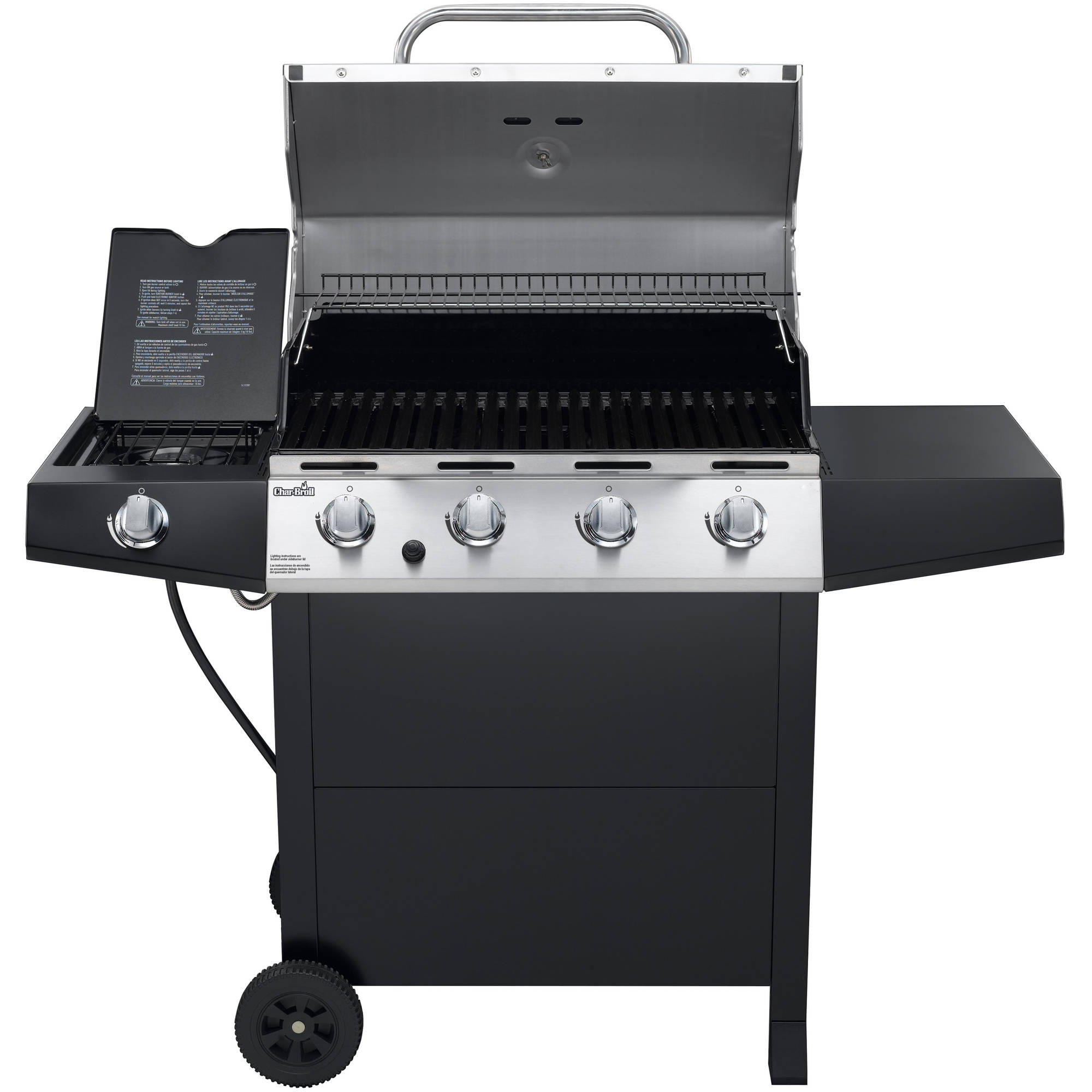 Char Broil 4 Burner Stainless Steel Gas Grill With Cabinet Home
