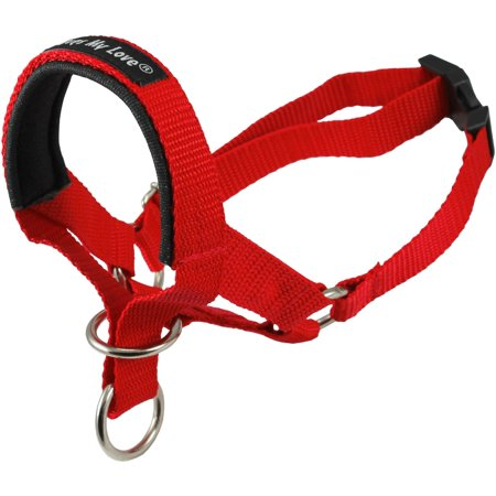 Dog Head Collar Halter Red 6 Sizes (L: 10.25