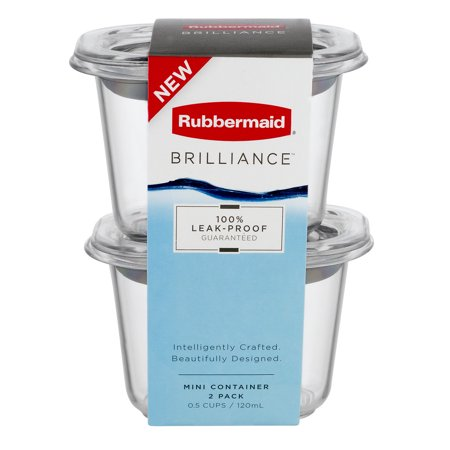 Rubbermaid Brilliance Mini Container Leak-Proof - 2 PK, 2.0 PACK