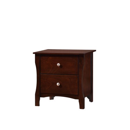 Furniture Of America Riggins Brown Cherry Tone Bedroom Nightstand With 2 Drawers ()