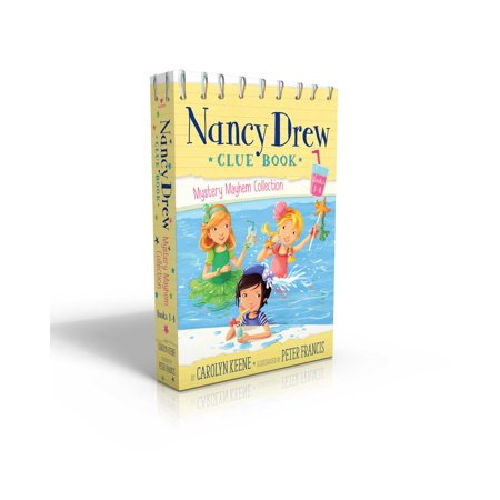 Nancy Drew Clue Book Mystery Mayhem Collection Books 1-4 : Pool Party Puzzler; Last Lemonade Standing; A Star Witness; Big Top Flop (Halloween Nancy Drew)