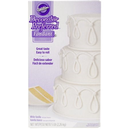Wilton Decorator Preferred Fondant, White Vanilla, 5lb