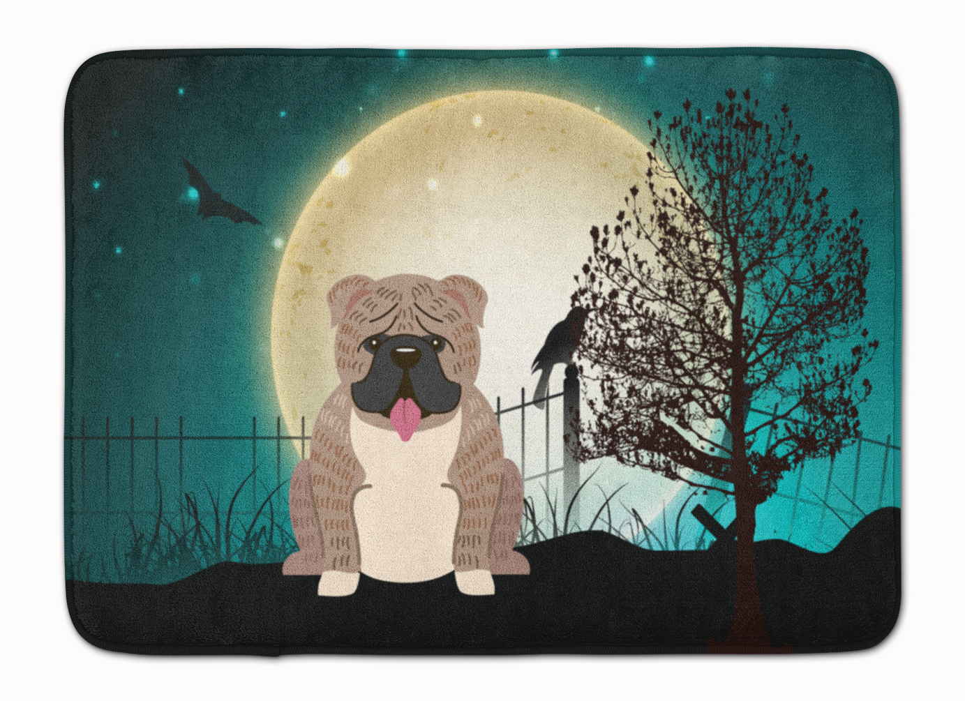 Carolines Treasures Halloween English Bulldog Grey Brindle 19 x 27