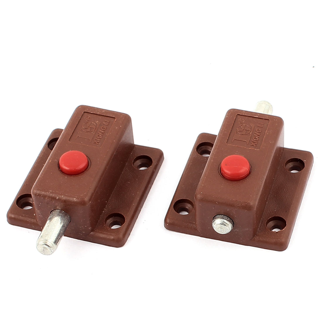 Gate Cupboard Door Latch Lock Automatic Barrel Bolt Brown 2pcs