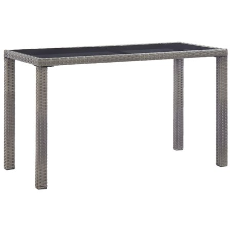 """Zaqw Garden Table Anthracite 48.4""""x23.6""""x29.1"""" Poly Rattan Outdoor Tables Color: Anthracite"""