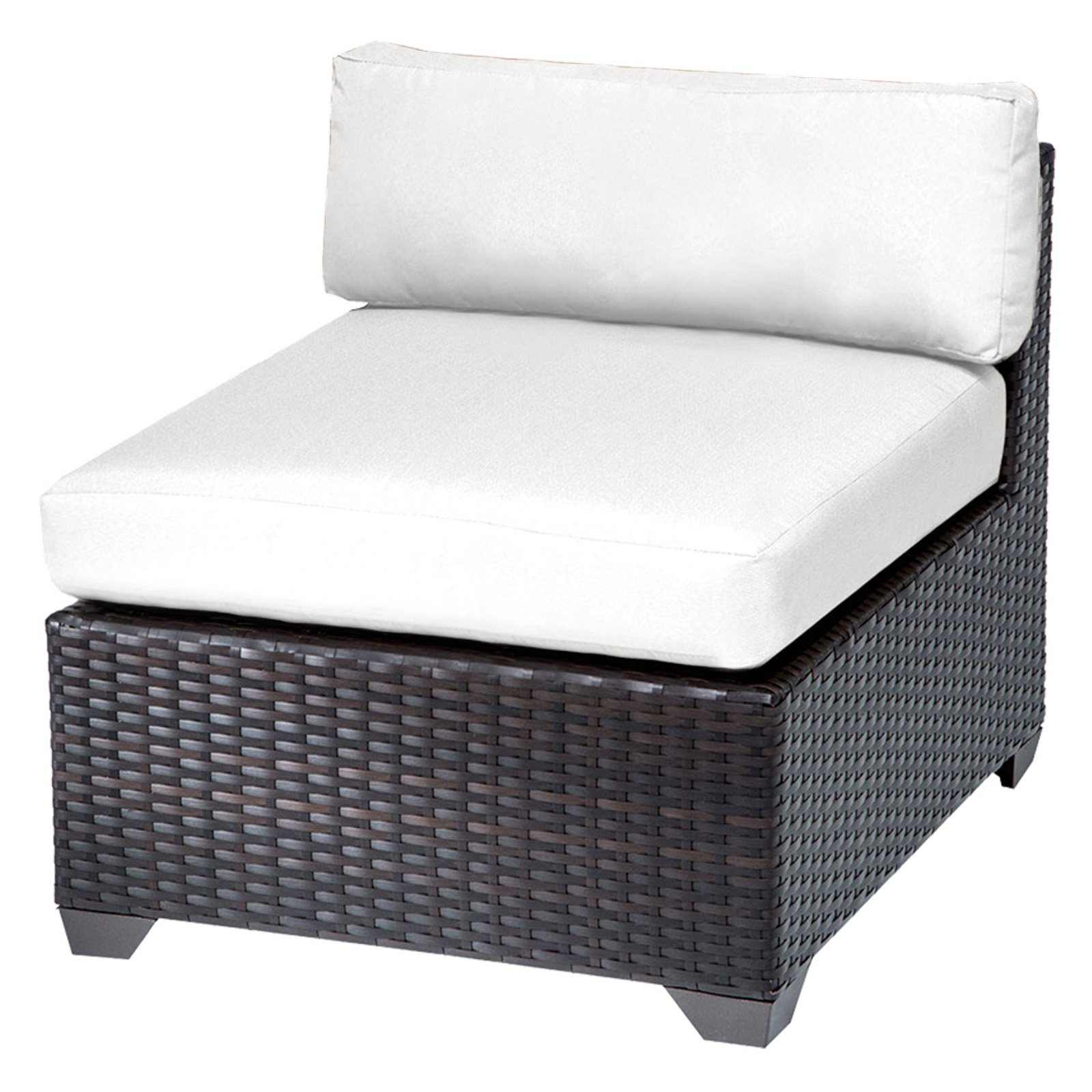TK Classics Belle Outdoor Middle Chair with 2 Sets of Cushion Covers