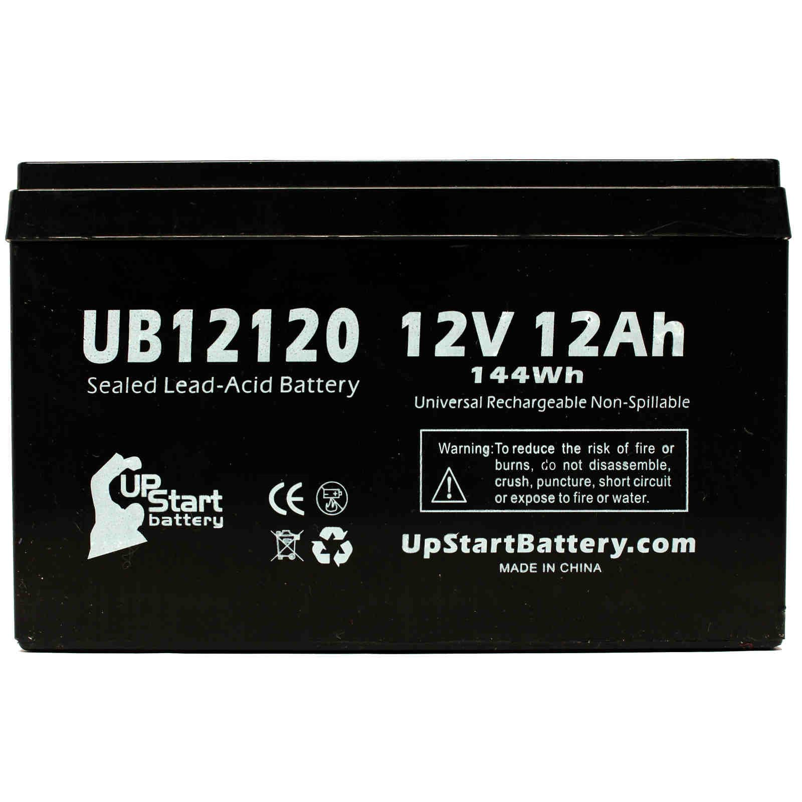 2x Pack - APC BACK-UPS BK650MC Battery Replacement - UB12120 Universal Sealed Lead Acid Battery (12V, 12Ah, 12000mAh, F1 Terminal, AGM, SLA) - Includes 4 F1 to F2 Terminal Adapters - image 3 of 4